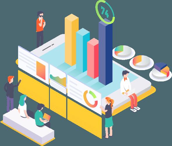 Isometric Business-Data Growth Monetization